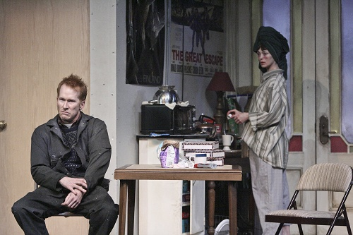 Dan Donohue and Fiona O'Shaughnessy in The Night Alive. Photo by Michael Lamont.