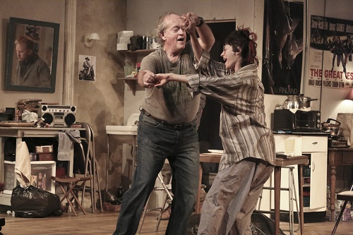 Paul Vincent O'Connor and Fiona O'Shaughnessy in The Night Alive. Photo by Michael Lamont.