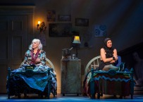 """L-R: Betty Buckley and Rachel York in """"Grey Gardens"""" The Musical. Directed by Michael Wilson, """"Grey Gardens"""" plays at Center Theatre Group/Ahmanson Theatre through August 14, 2016. The book is by Doug Wright, music by Scott Frankel and lyrics by Michael Korie. """"Grey Gardens"""" is based on the film by David Maysles, Albert Maysles, Ellen Hovde, Muffie Meyer and Susan Froemke. For tickets and information, please visit CenterTheatreGroup.org or call (213) 972-4400. Contact: CTGMedia@ctgla.org / (213) 972-7376. Photo by Craig Schwartz."""