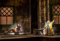 """L-R: Rachel York and Betty Buckley in """"Grey Gardens"""" The Musical. Directed by Michael Wilson, """"Grey Gardens"""" plays at Center Theatre Group/Ahmanson Theatre through August 14, 2016. The book is by Doug Wright, music by Scott Frankel and lyrics by Michael Korie. """"Grey Gardens"""" is based on the film by David Maysles, Albert Maysles, Ellen Hovde, Muffie Meyer and Susan Froemke. For tickets and information, please visit CenterTheatreGroup.org or call (213) 972-4400. Contact: CTGMedia@ctgla.org / (213) 972-7376. Photo by Craig Schwartz."""