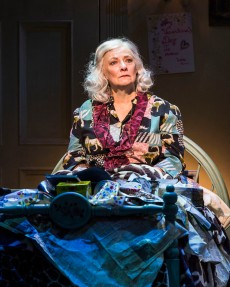 """Betty Buckley in """"Grey Gardens"""" The Musical. Directed by Michael Wilson, """"Grey Gardens"""" plays at Center Theatre Group/Ahmanson Theatre through August 14, 2016. The book is by Doug Wright, music by Scott Frankel and lyrics by Michael Korie. """"Grey Gardens"""" is based on the film by David Maysles, Albert Maysles, Ellen Hovde, Muffie Meyer and Susan Froemke. For tickets and information, please visit CenterTheatreGroup.org or call (213) 972-4400. Contact: CTGMedia@ctgla.org / (213) 972-7376. Photo by Craig Schwartz."""